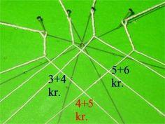 Eine besonders hübsche Sternverbindung beim Klöppeln Bobbin Lace Patterns, Lace Making, Sewing, Knitting, Points, How To Make, Projects, Bobbin Lace, Needle Tatting Patterns