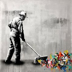 Street Artist Martin Whatson Combines Art and Graffiti in th.- Street Artist Martin Whatson Combines Art and Graffiti in the Most Brilliant Ways Street Artist Martin Whatson Combines Art and Graffiti in the Most Brilliant Ways Stencil Street Art, Stencil Graffiti, Murals Street Art, Street Art Utopia, Street Art News, Graffiti Wall Art, Street Art Banksy, Stencil Art, Street Artists