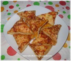 Sajtos háromszögek/leveles tésztával