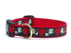 Hearts and Flowers Dog Collar