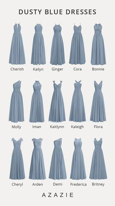 Shop for a large variety of dusty blue bridesmaid dresses at Azazie. With bridesmaid dresses from Azazie, you are sure to find a dusty blue bridesmaid dress for the perfect look for your wedding. Dusty Blue Bridesmaid Dresses, Wedding Bridesmaids, Prom Dresses, Wedding Dresses, Bridesmaid Dress Styles, Azazie Bridesmaid Dresses, Wedding Dress Shapes, Dusty Blue Dress, Affordable Bridesmaid Dresses
