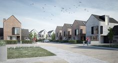 Six Two Architects - View Work Brick Architecture, Urban Architecture, Residential Architecture, Contemporary Architecture, Gable House, New Urbanism, Townhouse Designs, Social Housing, Built Environment