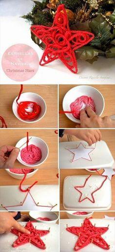 DIY Christmas Stars!