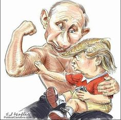 116 Of The Most Brutal Memes Trolling Trump After His 'Disgraceful Performance' When Meeting Putin Political Memes, Political Cartoons, Politics, Political Junkie, Satire, Putin Trump, Donald Trump Funny, Trump Cartoons, Funny Caricatures
