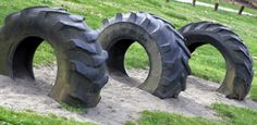 for the unused tires in the side yard...the kids would love this!