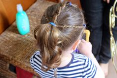 Domesticated Me: Nautical-Inspired Toddler Hair Tutorial with Johnson's No More Tangles Products