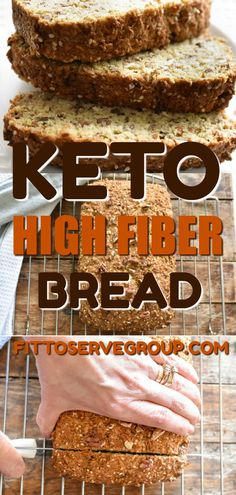 If you've been missing your whole wheat bread while doing keto, then this keto high fiber breakfast is the solution you've been needing. It's not only a low carb bread but it's high in fiber. #ketobread #lowcarbbread #ketohighfiberbread