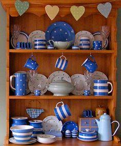 Cornishware Blue spots or stripes www.tggreen.co.uk Tea tastes better in a Cornishware mug than anything else.
