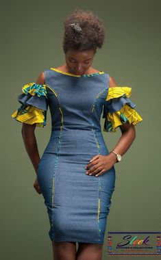 outfits by occasions suitable fashion style 2 Short African Dresses, African Blouses, Latest African Fashion Dresses, African Print Fashion, Africa Fashion, Ankara Fashion, African Prints, African Fabric, Short Dresses