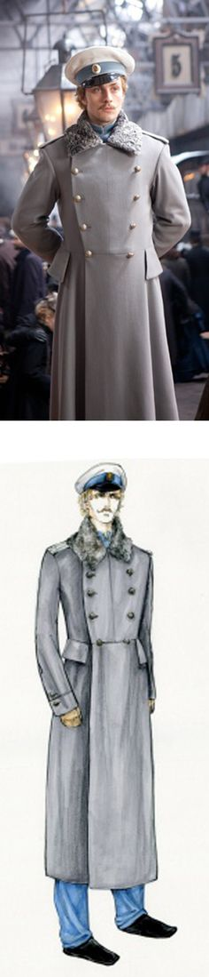 The men in Anna Karenina are often clad in military uniforms that take inspiration from Tsarist Russia.