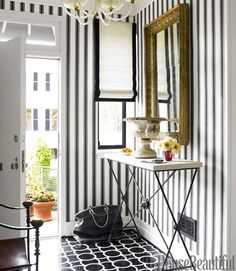 black and white pattern mixing.