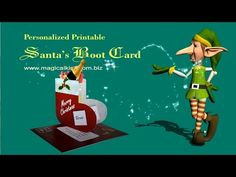 Making a Santa's Boot Christmas Card - YouTube