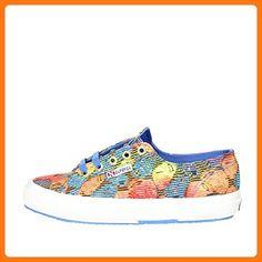 Chaussures Superga 2750-fabricfanplw S008et0 (39 - C75 Tribal Brun-bleu-rouge) Hae8LBo1