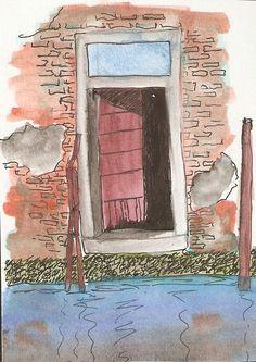 Porta sull'acqua - Venezia - Acquerello - mdm