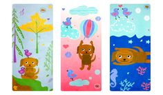 eco-conscious yoga mats for kids - 3 different styles!! duckduckdog.com   #yoga #kids #duckduckdog