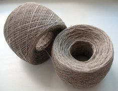 Linen Yarn natural gray 200 gr 7 oz skein / 2 ply by Coloredworld