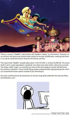 Aladdin conspiracy theories.