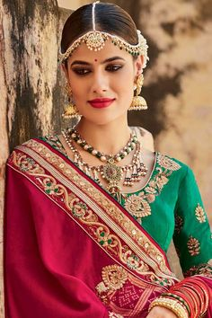 Sari for sale, Red And Beige jacquard asian festival sarees, u neck blouse now in shop. Andaaz Fashion brings latest designer ethnic wear collection in US Collection 2017, Saree Collection, Indian Wedding Outfits, Indian Outfits, Indian Dresses, Saree Wedding, Wedding Wear, Bridal Lehenga, Anarkali Suits Online Shopping
