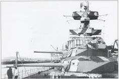 Forward 8 in turrets of German heavy cruiser Admiral Hipper, lead ship of her class, in late 1942. She was captured in a heavily damaged state at Kiel in May 1945 after eventful war service which included the Norwegian campaign of 1940, commerce raiding in the Atlantic in 1941 and the Battle of the Barents Sea in 1942.