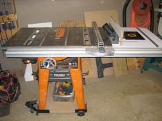 Ridgid r4512 ts shop built folding outfeed table router insert this is the new addition to my rigid table saw love this extension will free my router table i currently have on my bench as well greentooth Image collections