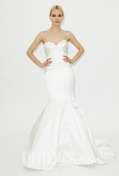 A strapless sweetheart wedding dress by Truly Zac Posen | Brides.com