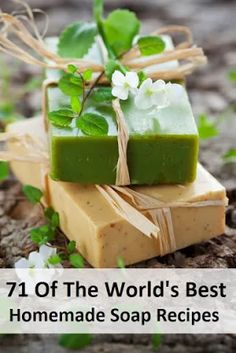 71 Of The World's Best Homemade Soap Recipes. Want to try making your own soaps? Here are 71 of the world's best recipes all in one convenient place! Share this with your soap making friends so they can check it out! Diy Savon, Homemade Soap Recipes, Soap Making Recipes, Homemade Soap Bars, Homemade Candles, Homemade Beauty Products, Handmade Soaps, Diy Soaps, Diy Herbal Soaps