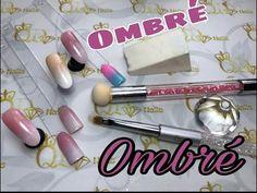 3 ombre tutorials with gradient sponge and ombre brush.baby boomer !!градиент! Омбре на ногтях! - YouTube