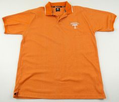 Vintage Tennessee Volunteers Vols Team Starter Polo Shirt Mens Size Large L #Starter #TennesseeVolunteers
