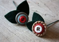 Button flower.  These would work for a single flower in a little itty bitty vase.