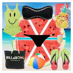 """""""Vamos a la playa"""" by nives7kelvin ❤ liked on Polyvore featuring Rebel Yell, L'Agent By Agent Provocateur, Norma Kamali, Billabong and Evergreen"""