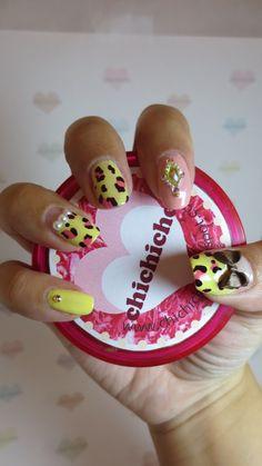 Yellow leopard nails | chichicho~ nail art addicts