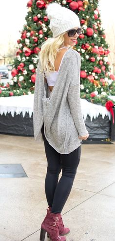 Black Mesh Activewear Leggings -  sweater and leggings winter outfit ideas winter fashion www.shopcsgems.com