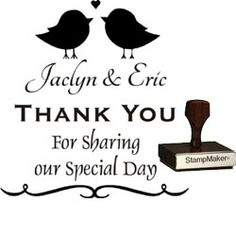 Custom Wedding Stamps Shipped In One Business Day Create Your Own Unique Thank You