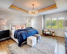 Master Bedroom with Hardwoods, Furniture Ideas, Trim Design New Home Builders, Master Bedroom, Home Builders, Home, Furniture, Vaulted Ceiling Kitchen, New Homes, Model Homes, Interior Design