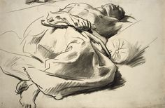 "John Singer Sargent – Study of a Sleeping Figure for ""David in Saul's Camp"" 