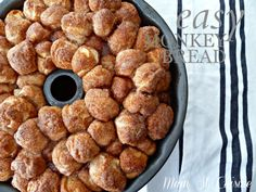 easy monkey bread recipe (I put my sugar and cinnamon in a ziploc bag and throw a handful of cut-up biscuits in and shake) mst