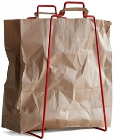 Everyday paperbag holder makes recycling easy