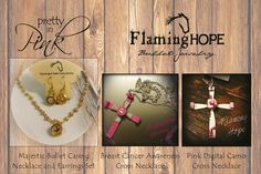 Pretty in Pink handcrafted bullet jewelry by Flaming Hope