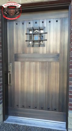 Blackened Stainless Steel Door D023. IJC Coppersmithing Ltd