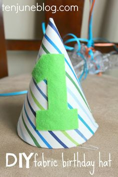 DIY Fabric 3 Birthday Hat Tutorial Ten June