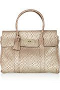 Mulberry Bayswater snake-effect leather bag