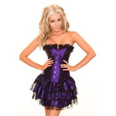 Wholesale Purple Corset& Purple Mini Skirt HP5103 Producers |Corsetscity