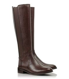 Tory Burch Christy Coconut Brown Leather Tall Riding Boots 7 M New $495