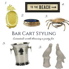 Hamptons House, The Hamptons, Bar Cart Styling, Throw A Party, Home Furniture, Home Goods Furniture, Home Furnishings, Furniture, House Furniture
