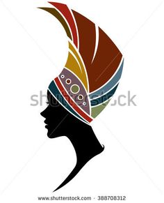illustration vector of African women silhouette fashion models on white background