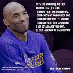 Preach, Kobe Bryant! The Golden State Warriors need to keep going for the record! 4/6/2016