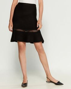 Shop at Century 21 for shoes, clothing, jewelry, dresses, coats and more from top brands with trendy styles. Leather Midi Skirt, Fit And Flare Skirt, Fabric Covered Button, Female Models, Trendy Fashion, Lady, Skirts, How To Wear, Clothes