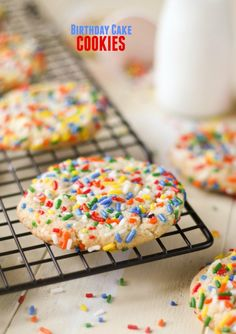 Birthday Cake Cookies.These are so great — party in cookie form! They're soft and chewy and taste like a birthday!