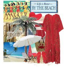 Beach, created by nuria-pellisa-salvado on Polyvore