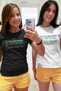 Na estampa, o Teorema Fundamental do Cálculo. #humoremcamisetas #matematica #calculo Math Resources, Things To Sell, Tops, Women, Fashion, Ladies T Shirts, Block Prints, Moda, Math